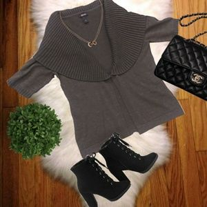 {KENNETH COLE REACTION}Grey Sweater Cardigan Small
